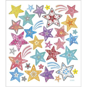 Seal Sticker with Glitter Foil | Stars