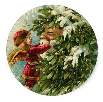 Sealing Stamp Stickers X-mas   Santa with Angel