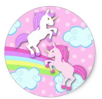 Sealing Stamp Stickers | Pink Unicorns