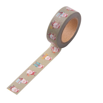 Christmas Washi Masking Tape | Green with Santas