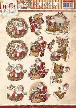 Pushout - Yvonne Creations - Holly Jolly - Santa