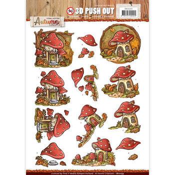 Pushout -Yvonne creations - Autumn Colors- Mushrooms Houses