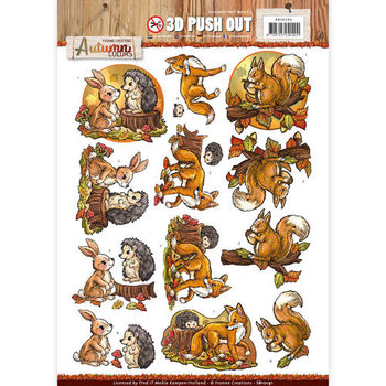 Pushout -Yvonne creations - Autumn Colors- Animals