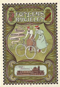 Museum Cards Postcard | Fongers rijwielfabriek, 1898