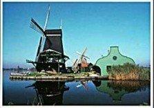Postcard   Five Windmills in Zaanse Schans, Holland