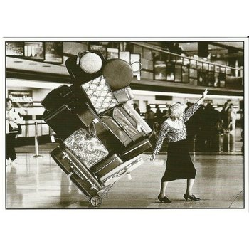 Postcard Gutrath Verlag | Large pile of luggage