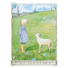 Elsa Beskow Postcard | Bä bä vita lamm