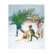 Elsa Beskow Postcard | Årets saga December
