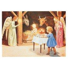Elsa Beskow Postcard | Jesubarnets födelse