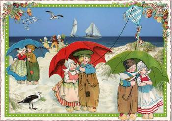 Postcard Edition Tausendschoen   Holland - Beach