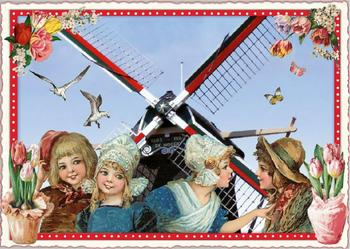 Postcard Edition Tausendschoen | Holland - Windmill