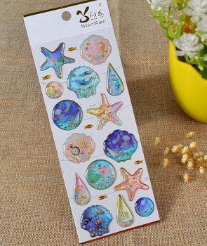 Puffy Epoxy Stickers | Ocean Life