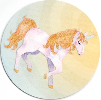 Round Postcard Edition Tausendschoen   Unicorn