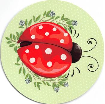 Round Postcard Edition Tausendschoen   Luck Beetle