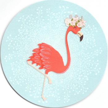 Round Postcard Edition Tausendschoen | Flamingo