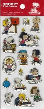 Snoopy and his Friends Puffy Clear Epoxy Stickers | Peanuts