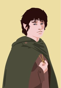 Pop Art Postcard | Lord of the Rings - Frodo