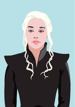 Pop Art Postcard | Games of Thrones - Daenerys Targaryen