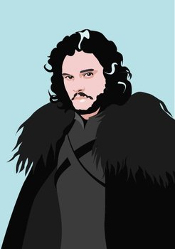 Pop Art Postcard | Games of Thrones - Jon Snow