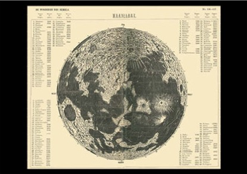 Postcard   Map of the Moon