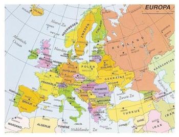 Postcard   Map of Europe