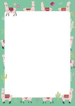 A5 Letter Paper Pad crissXcross | Lamas