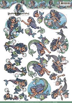 3D Cutting sheet - Yvonne Creation - Mermaids