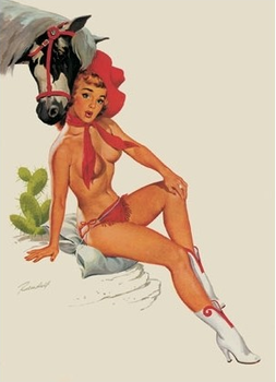 Postcard Pin Up | Cowgirl