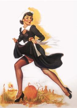 Postcard Pin Up | Halloween Nun