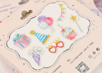 Snowglobe Sticker Flakes Sack | Birthday