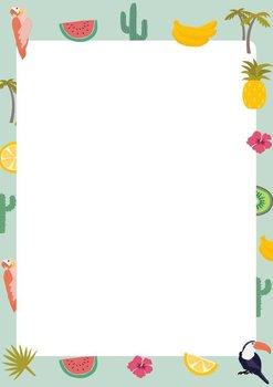 A5 Letter Paper Pad crissXcross | Tropical