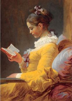 Postcard Tushita Fine Arts | Young Girl Reading
