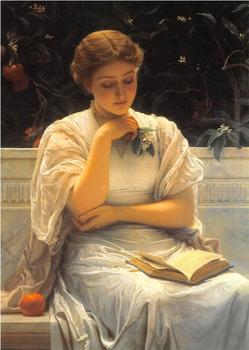 Postcard Tushita Fine Arts | Girl Reading (1878)