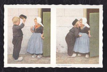 Oud Hollandse Postkaart | Een morgen zoentje