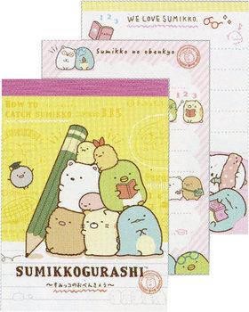 San-X Sumikkogurashi Mini Memo Pad | Studying Sumikko - Pencil