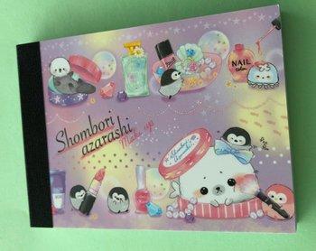 Crux Mini Memo Pad | Shombori Azarashi Make Up