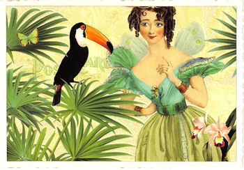 Postcard Edition Tausendschoen | Fairy with Toucan