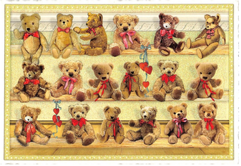 Postcard Edition Tausendschoen | Teddies