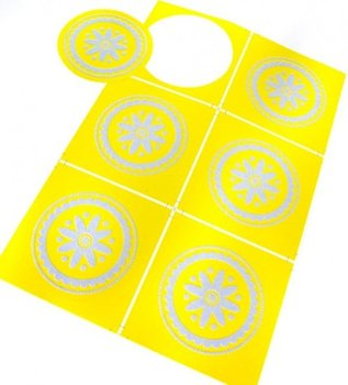 Sealing Stamp Stickers Lace Yellow