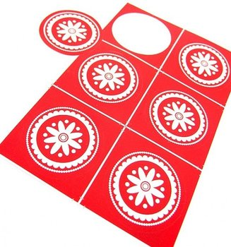 PackEs Sealing Stamp Stickers | Lace Red