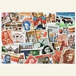 Postcard   Dutch Stamps