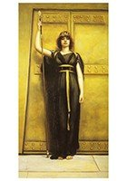 Postcard | John William Godward 1861-1922 - The Priestess
