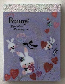 Q-Lia Mini Memo Pad    Merry Bunny