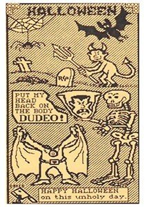 Halloween Postcard | A.N.B. Halloween