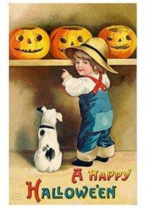 Victorian Halloween Postcard | A.N.B. - A happy Halloween