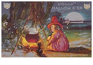 Victorian Halloween Postcard | A.N.B. - Jolly halloween