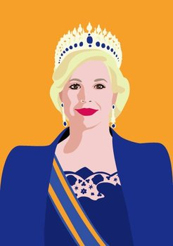 Pop Art Postcard | Queen Maxima