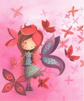 L'Atelier de Papier Aquarupella Postcard | Fille Papillon