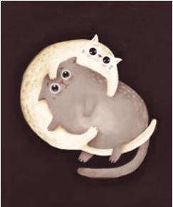 L'Atelier de Papier Aquarupella Postcard | Cats