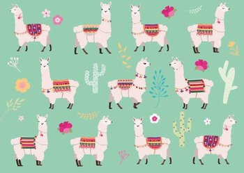 Postcard - Lamas (crissXcross)